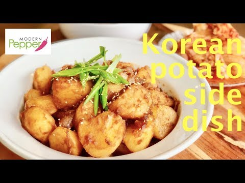 Korean Potato Side Dish/Banchan Recipe & Mukbang Braised Potatoes 감자조림 Gamja-Jori GLUTEN-FREE
