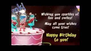 Happy Birthday Chinese and English with lyrics