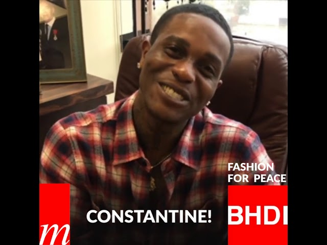 Watch Constantine's message on Fashion for Peace