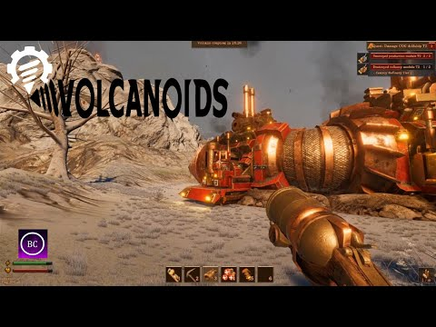 Volcanoids - Destroying level 2 Drill Ship |