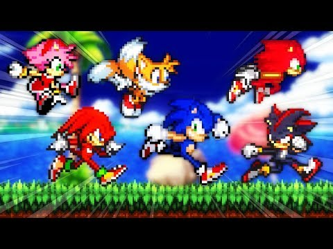 Sonic Fan Games ✪ Sonic Game Land (All Characters & Game Modes)