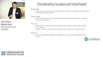 Pörssisäätiön Sijoituskoulu: Sanasto, talousasiantuntija Martin Paasi, Nordnet