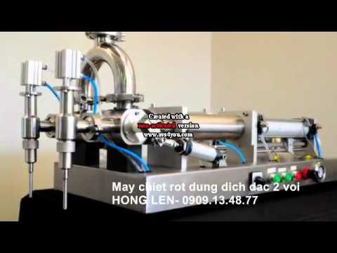 Máy  chiết  rót  nước  tẩy rửa 2 vòi, máy  chiết  rót  mật ong, máy  chiết nước rửa chén