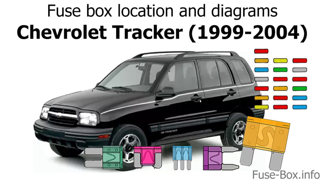 fuse box location and diagrams: chevrolet tracker (1999-2004)