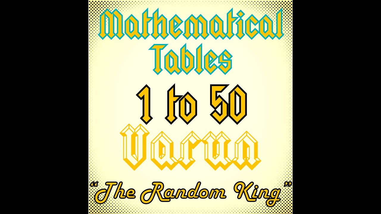 Mathematical tables from 11 to 50 youtube mathematical tables from 11 to 50 geenschuldenfo Images