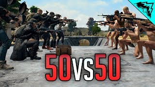 PUBG 50 vs 50 Battle Royale - Battlegrounds Highlights and Funny Moments