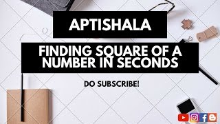 how to find square of any number quickly in seconds fast calculation math trick