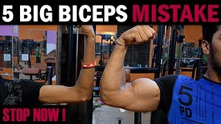 5 BIG BICEPS Mistakes Never Do | How to Grow BIGGER BICEPS (Home/Gym)
