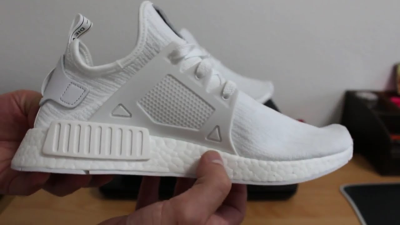 2aeef3819 Snowing in Summer Adidas NMD XR1 PRIMEKNIT Vintage White Boost Unboxing and  Review