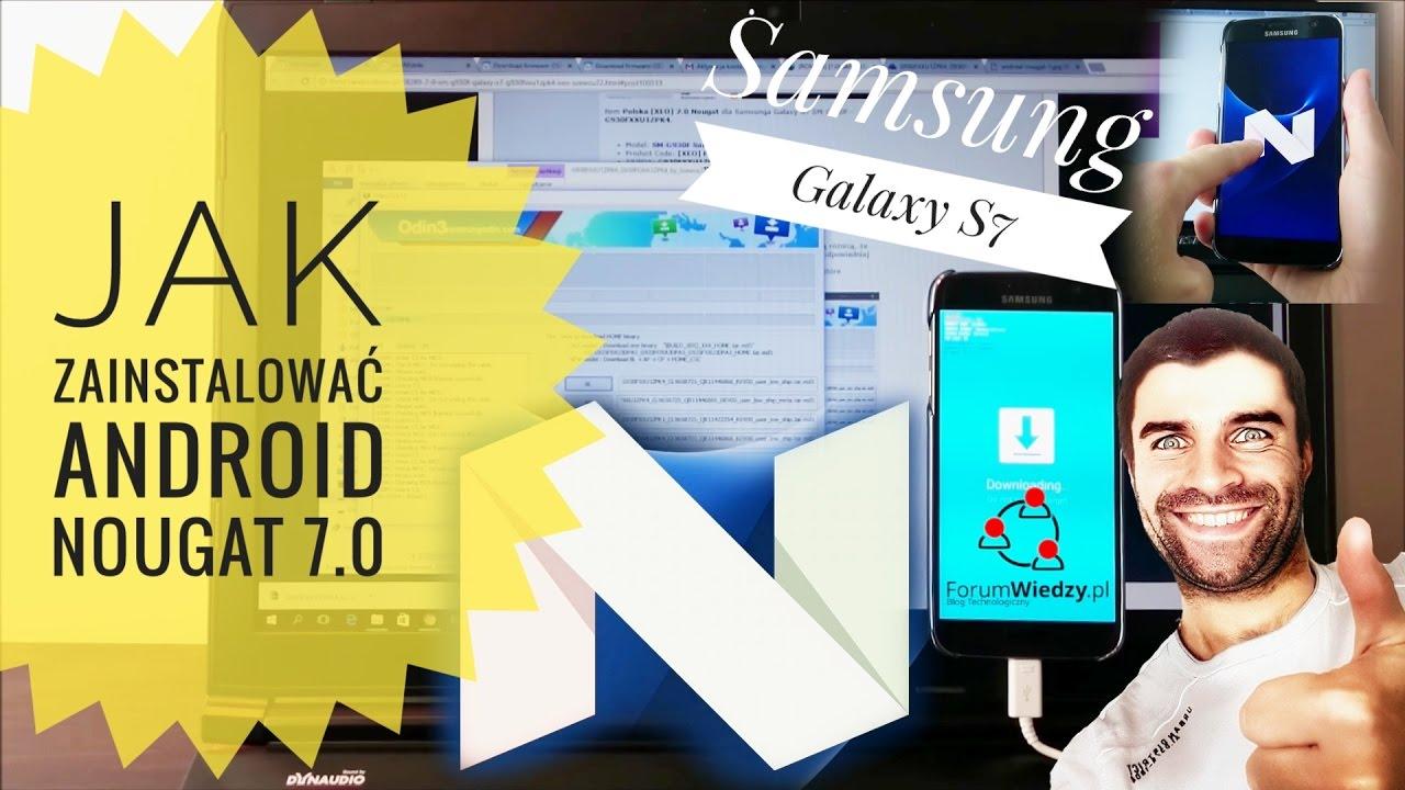 zamówienie o rozsądnej cenie Kup online How to Install Android NOUGAT 7.0 on Samsung Galaxy S7? PL