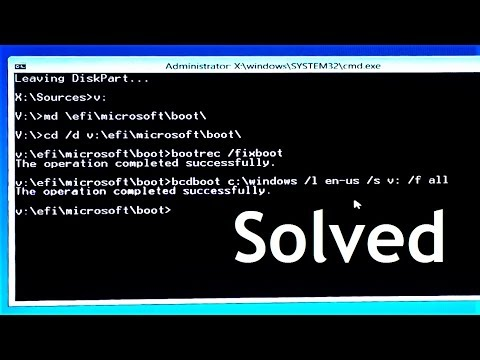 How to fix Bootrec /fixboot Access is denied during to fix