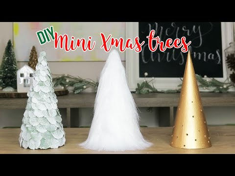 DIY Christmas Tree Decor | How to Make 3 Mini Tabletop Trees (Affordable)