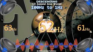 Ultimate Bass Test : 100 hz - 1 hz   Sine Wave Subwoofer Tester Tones : 100hz to 1hz  - MY BEST EVER