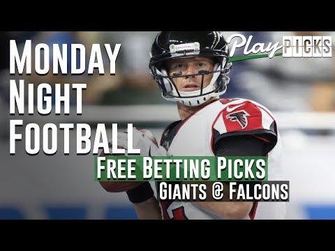 Monday Night Football NJ Betting Free Picks - Giants vs. Falcons