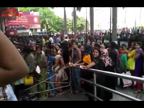 Baahubali Advance Booking Hungama @ Prasads Imax
