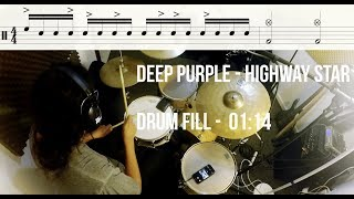 Drum Lesson - Deep Purple - Highway Star - Drum Fill - Drum Parts #27