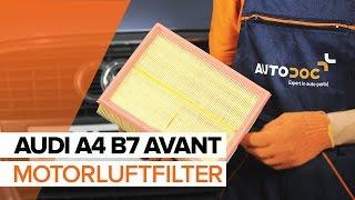 Hvordan bytte Motorluftfilter på AUDI A4 B7 AVANT [BRUKSANVISNING]