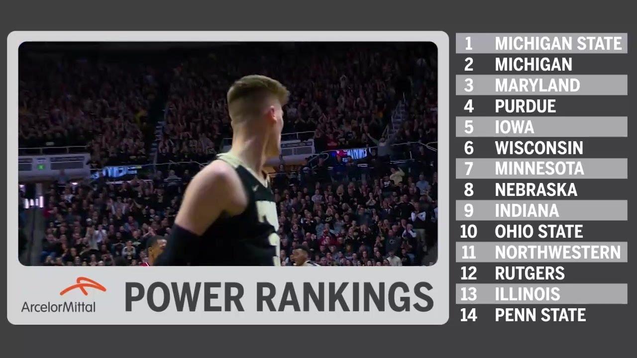 Big Ten Power Rankings: January 22, 2019 | Big Ten Basketball