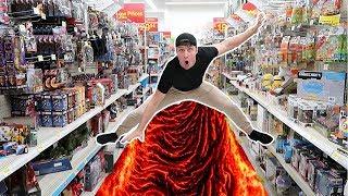 FLOOR IS LAVA CHALLENGE IN WALMART!! (HOLLYWOOD)