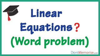 Applications of Linear Equations ( GMAT / GRE / CAT / Bank PO / SSC CGL)