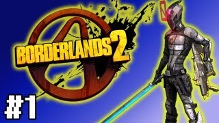 Let's Play Borderlands 2 - Part 1 - REBECCA BLACK!? | Walkthrough | Gameplay | Commentary (PC/HD)