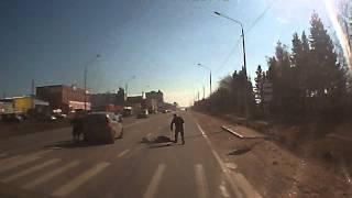 Сбили пешехода в Смоленске 11 марта 2014 года. Тихвинка