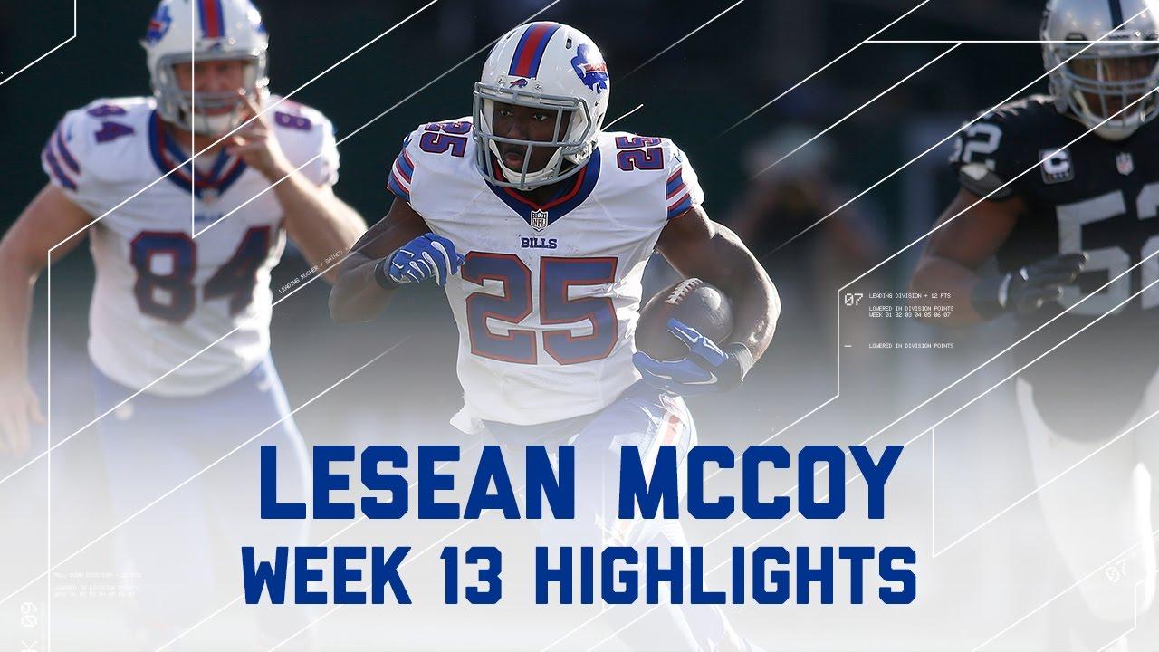 LeSean McCoy 130 Rush Yards Bills vs Raiders