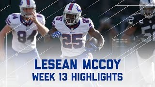 LeSean McCoy 130 Rush Yards! | Bills vs. Raiders | NFL Week 13 Player Highlights