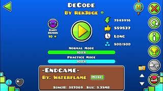 DeCode COMPLETADO 100% (y 2 veces XD) ~Geometry Dash 2.11~