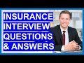 INSURANCE Interview Questions and Answers (Insurance Clerk, Insurance Broker, Agent & Manager)
