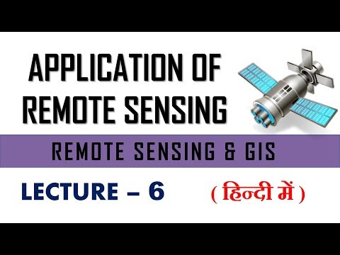 Application Of Remote Sensing   Remote Sensing And Gis   Lecture 6
