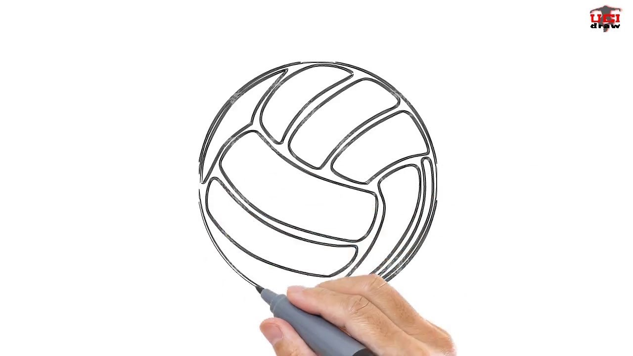 How To Draw A Volleyball Easy Drawing Step By Step Tutorials For