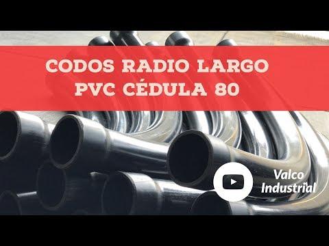 Codos Radio Largo PVC Cédula 80
