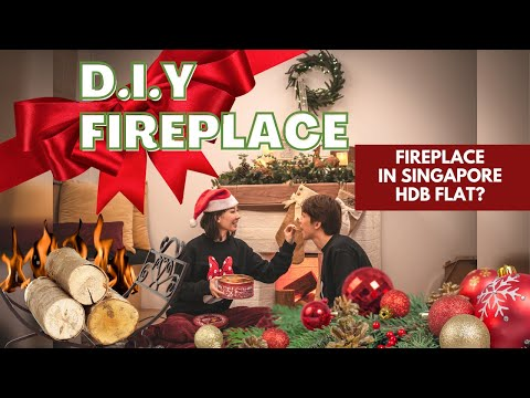 DIY Fake Fireplace in Singapore HDB? - Decorating our Home for Christmas!