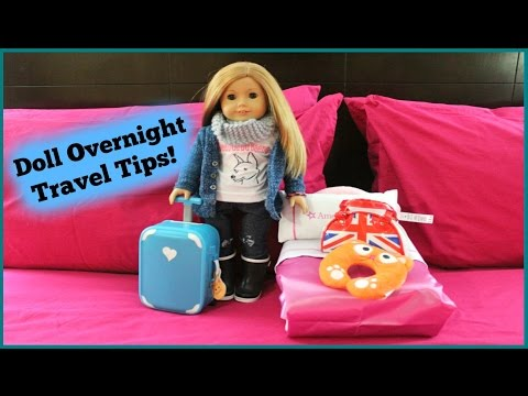 How to Travel/Pack Your American Girl Doll-Overnight Stay!