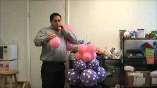 Tutorial how to make a Balloon column with a Minnie Head