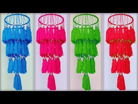 Tassel Wall Hanging DIY || Wall Hanging Craft ideas Easy with Wool