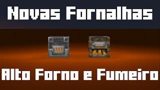 ✔Novas Fornalhas da 1.14 fumeiro e Alto Forno   Minecraft snapshot 18w50a