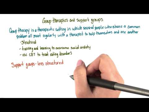 Group therapies - Intro to Psychology