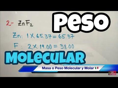Masa O Peso Molecular De Compuestos