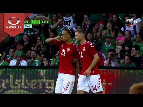 ¡Golazo de Poulsen! | Dinamarca 1 - 0 México | Partido Amistoso | Televisa Deportes