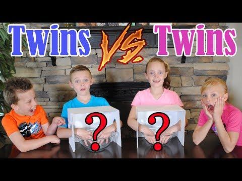 Twin Boys vs Twin Girls WHATS IN THE BOX CHALLENGE! Ninja Kidz TV and Kids Fun TV Together!