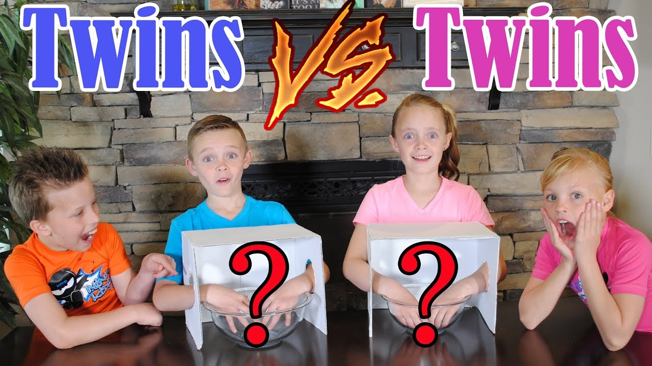 Twin Boys Vs Twin Girls What's In The Box Challenge! Ninja