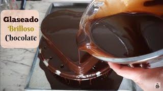 Glaseado Brilloso De  Chocolate Para Cubrir Pasteles