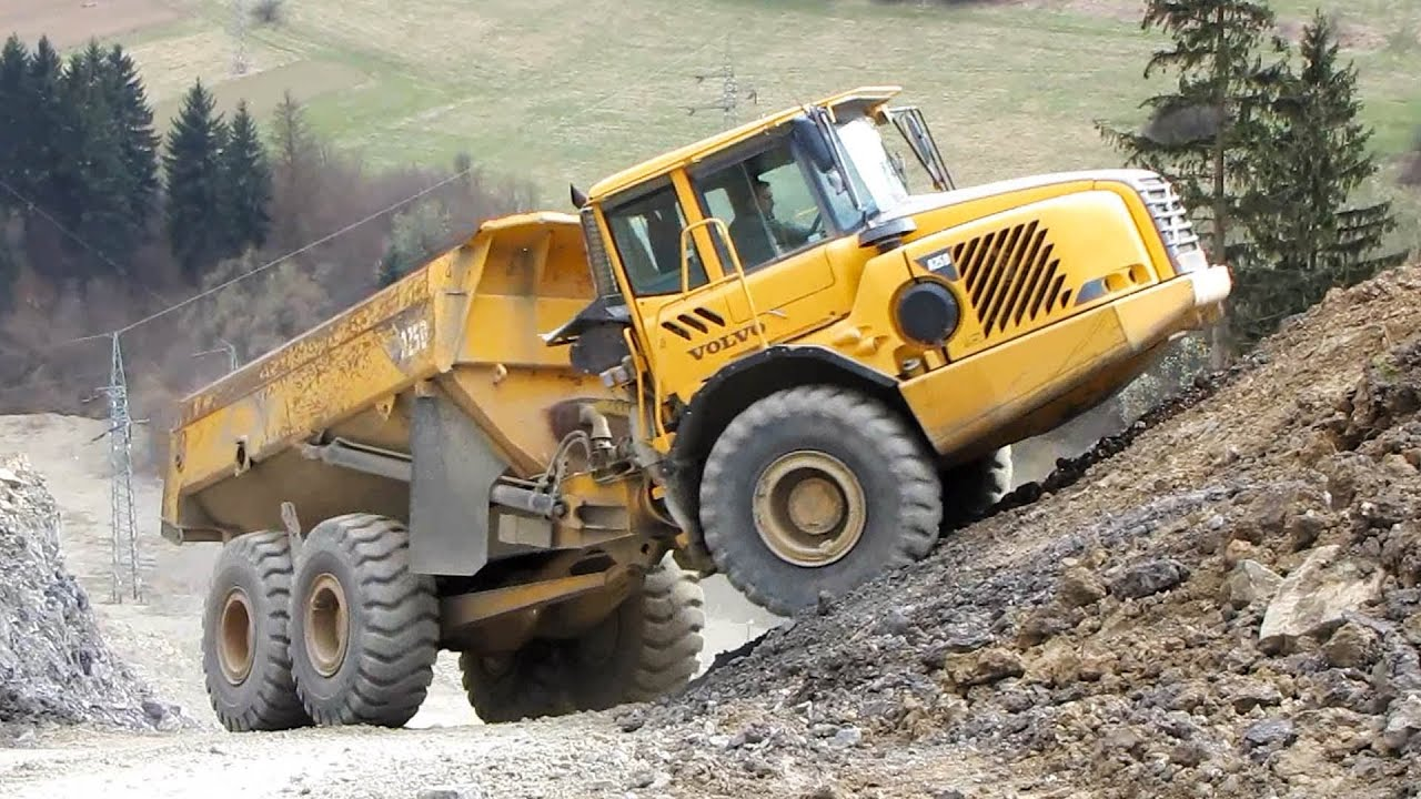 Volvo a25d dump truck in a quarry part i youtube