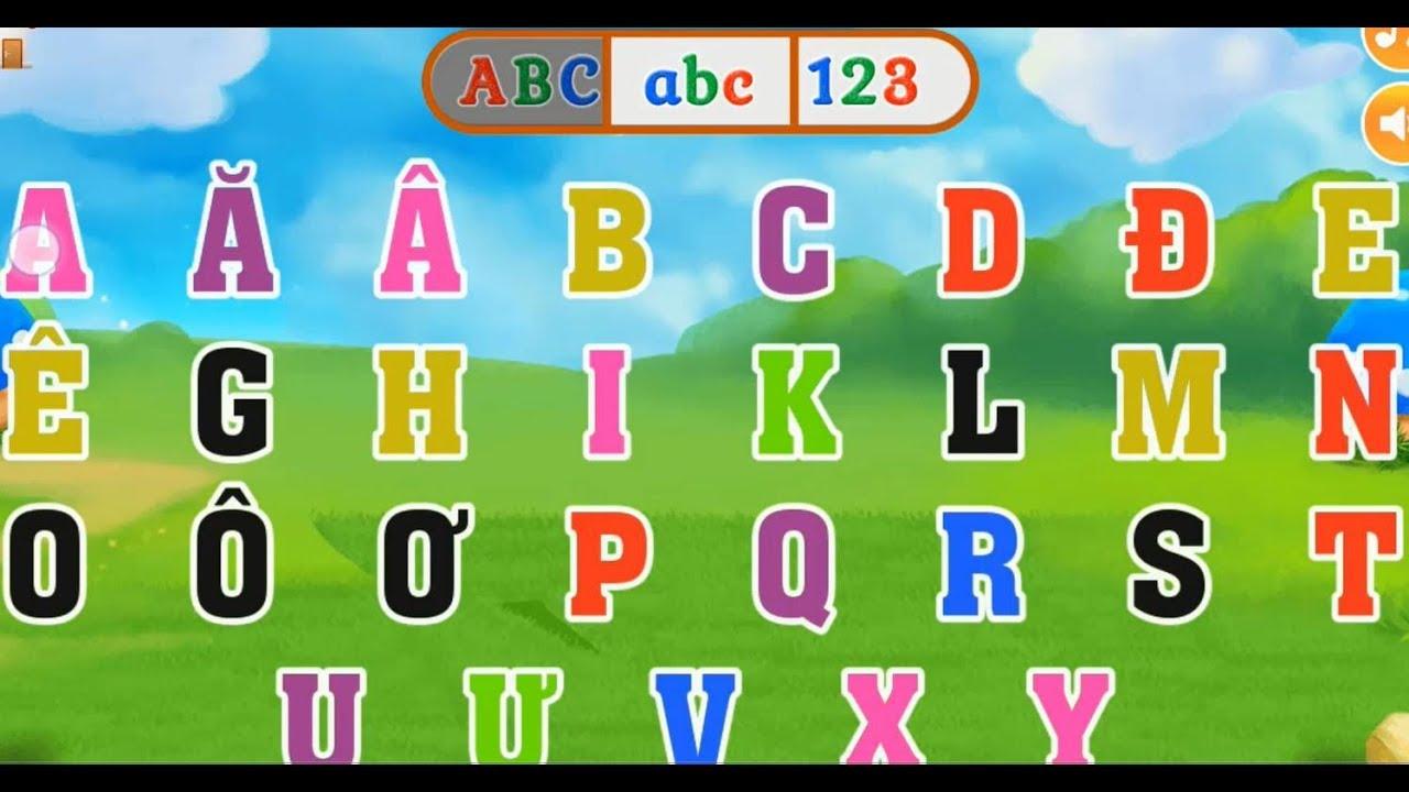 Dạy bé tập viết bảng chữ cái tiếng Việt || Đánh vần bảng chữ cái tiếng Việt