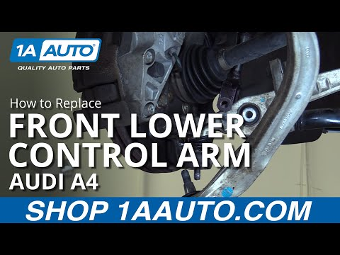 How to Install Replace Front Lower Forward Control Arm 2003-08 Audi A4