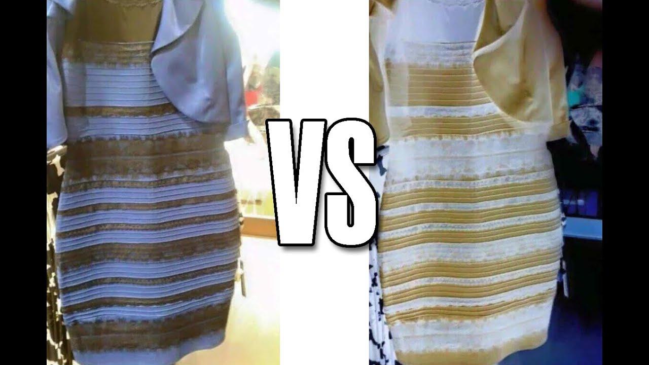 Vestido azul y negro o blanco o dorado