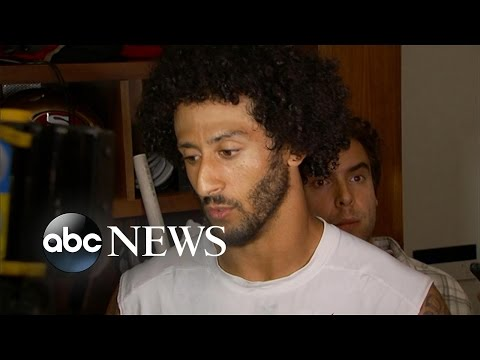 49ers Quarterback Colin Kaepernick Refused to Stand for National Anthem