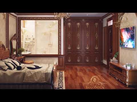 Thiết kế nội thất biệt thự trăm tỷ đồng phong cách tân cổ điển  tại Hưng Yên
